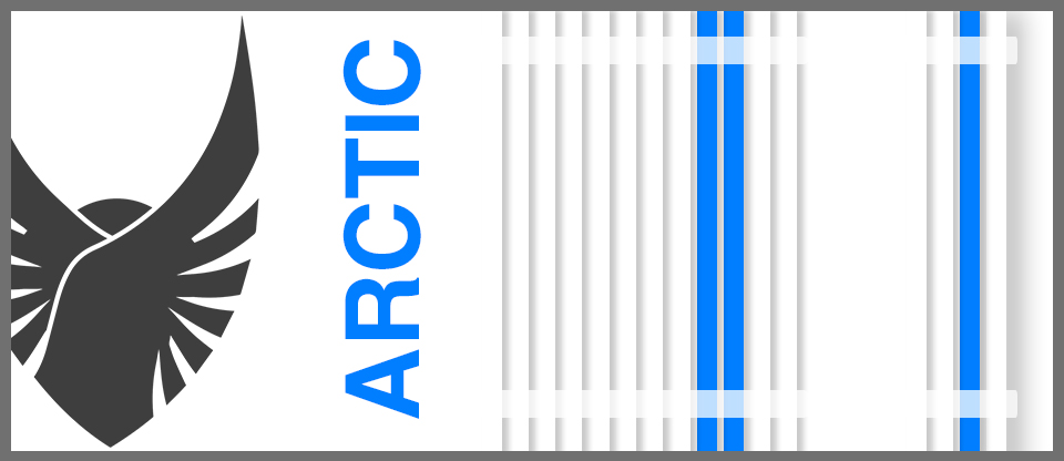 Arctic Blue & White Avolv Cable Kit Sleeved PSU Extensions