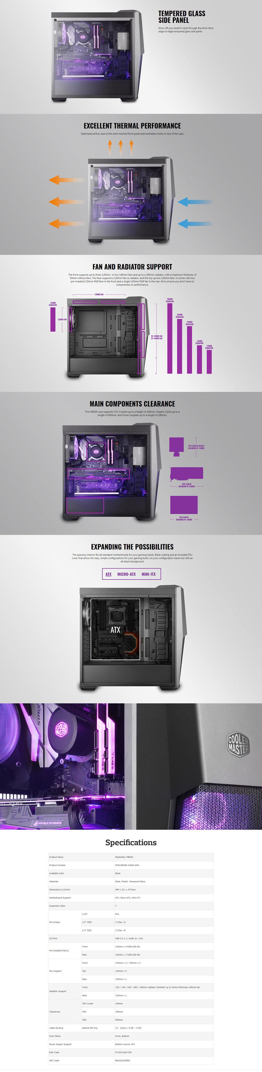 CoolerMaster MB500 RGB