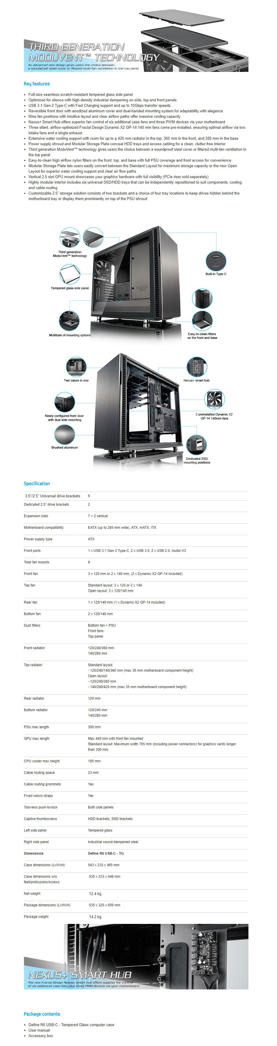 Fractal Design Define R6 Gunmetal TG