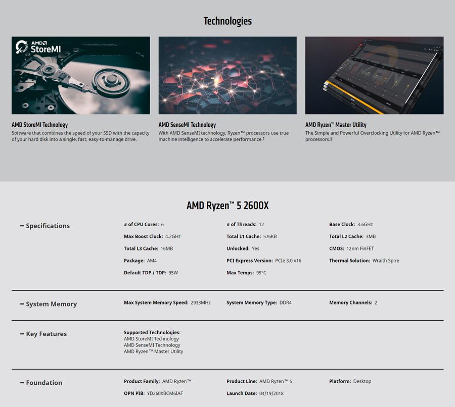 AMD R5 2600X
