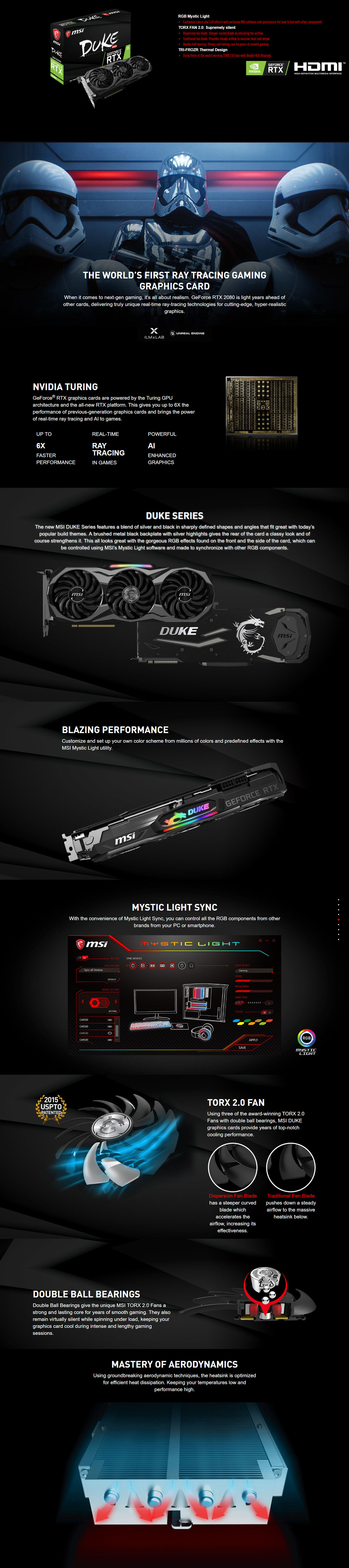MSI RTX 2080 DUKE OC