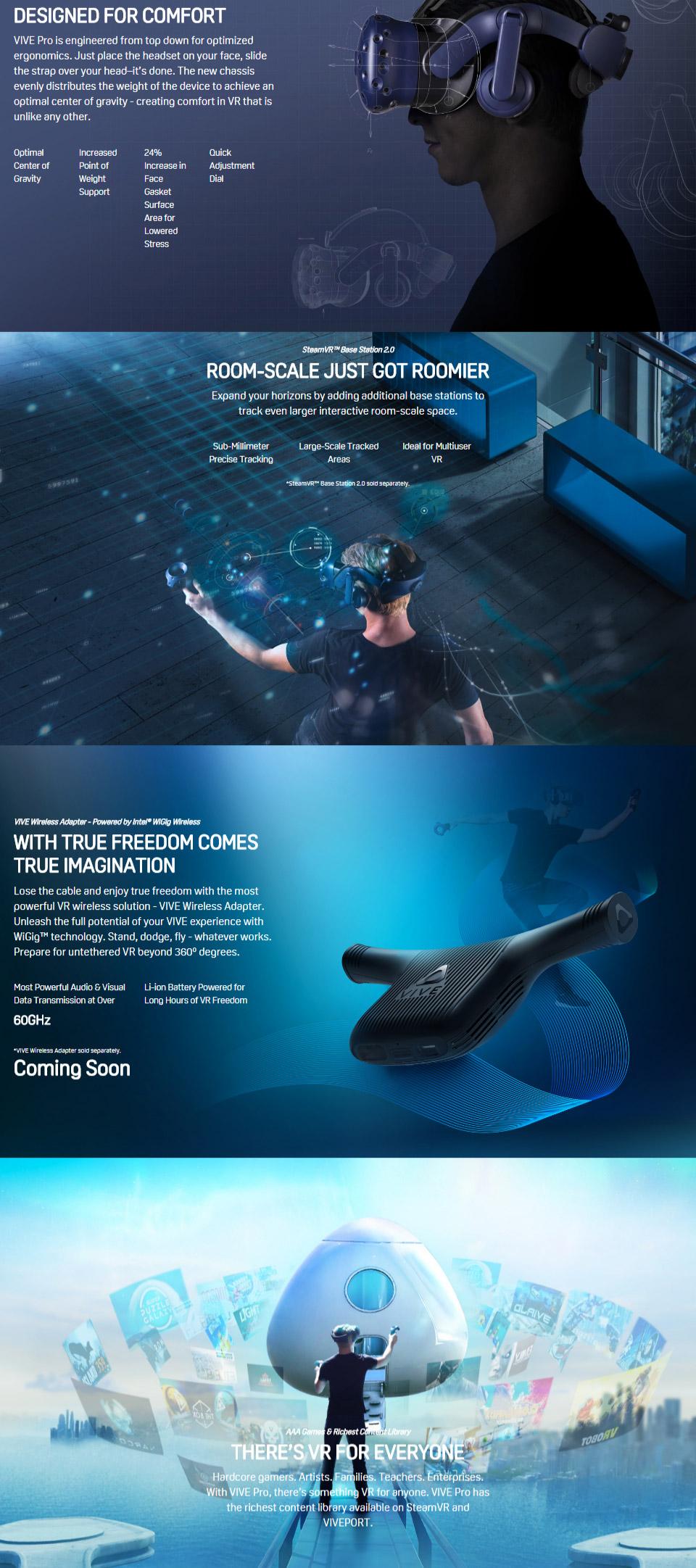 a0783bc69f80 Buy HTC Vive Pro Virtual Reality Headset Kit Online