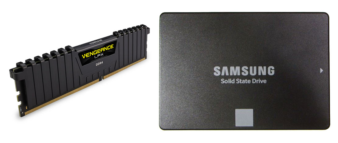 Samsung SSD Corsair RAM