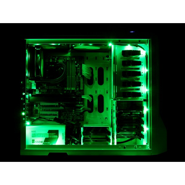 Green Sleeved LED Cable