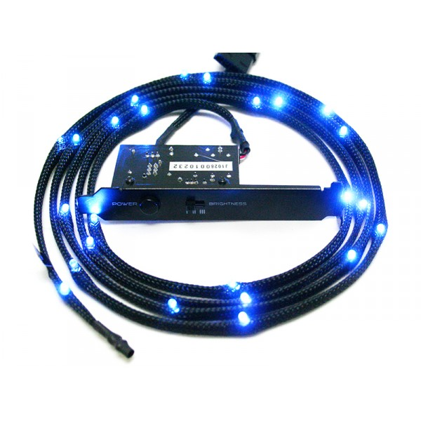 Blue Sleeved LED Cable