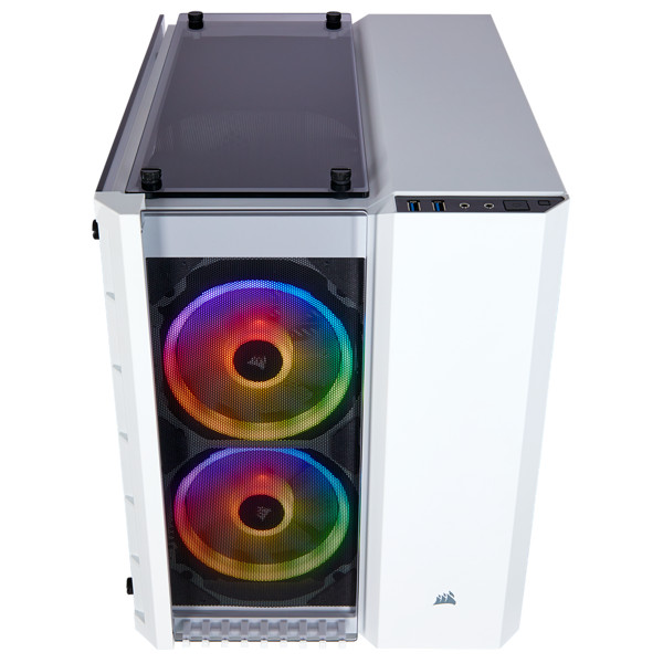 Corsair Crystal 280X RGB Tempered Glass mATX White