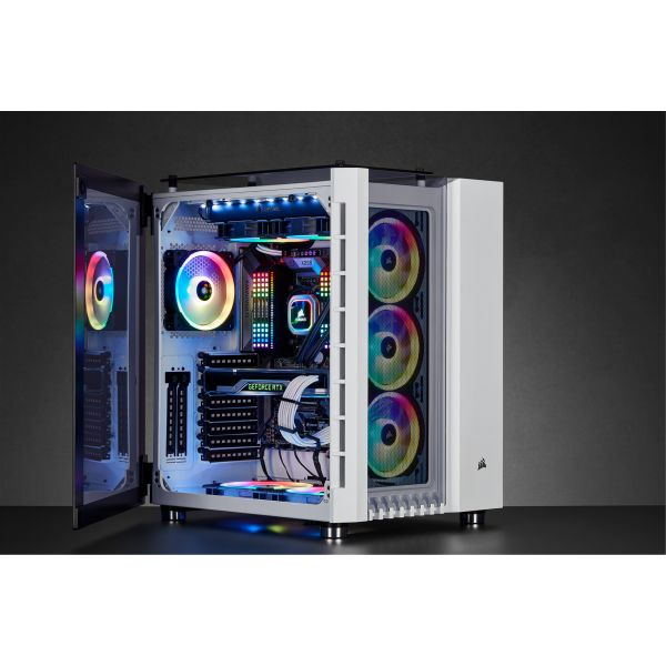 Corsair Crystal 680X White RGB Tempered Glass