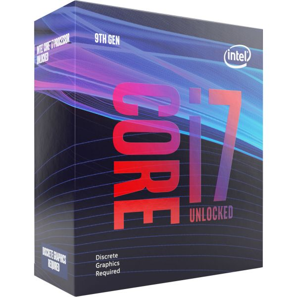 Intel i7 9700KF 8-Core (Base-3.6GHz Boost-4.9GHz)