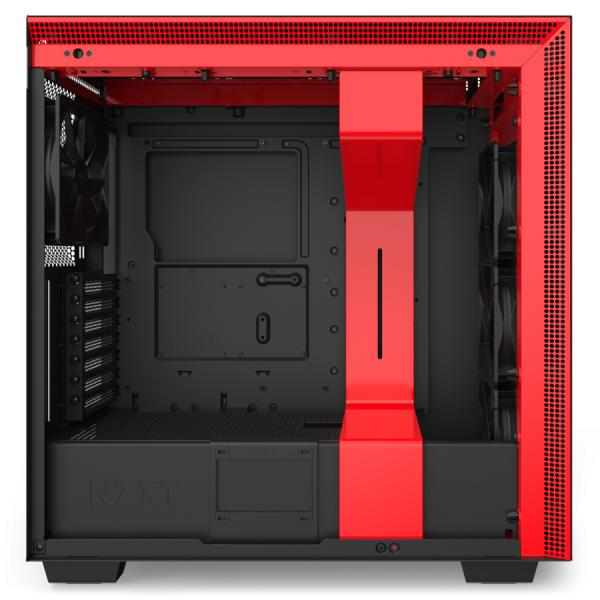 NZXT H710 Matte Black & Red Mid Tower