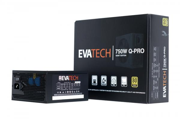 EVATECH 750W Q-PRO Gold Semi-Modular ATX Power Supply