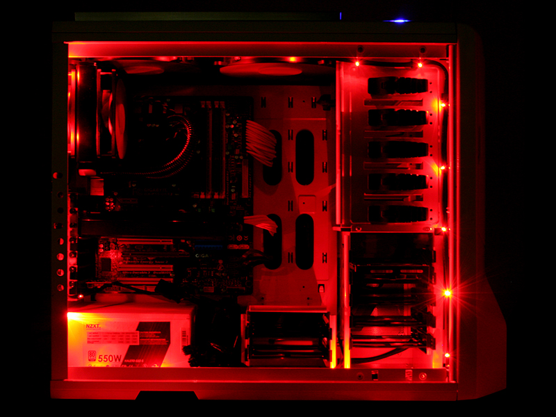 NZXT Red LED Case Lighting