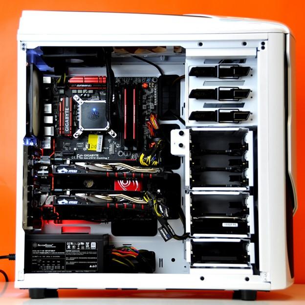 Sirin Intel + Nvidia Gaming PC trong chiếc NZXT Phantom 530 Trắng - 60128