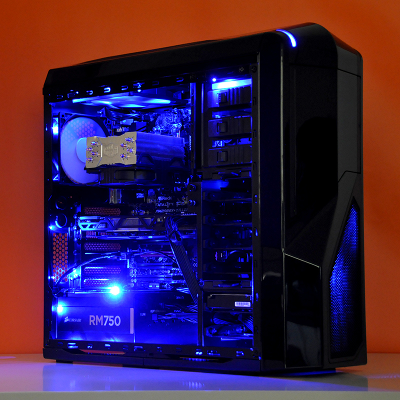 kishi amd ati custom gaming pc in nzxt phantom 410 black evatech rh news evatech com au
