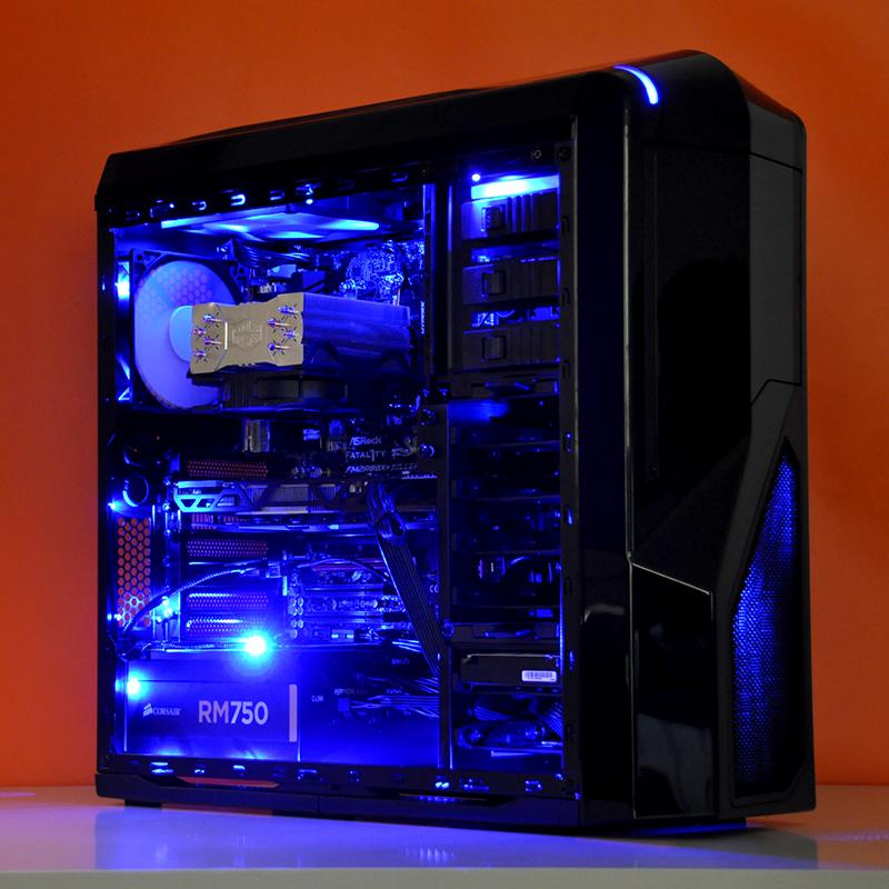 Kishi AMD + ATI Custom Gaming PC in NZXT Phantom 410 Black ... on