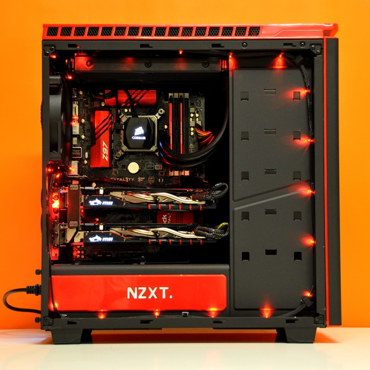 Intel Ultimate Custom Gaming Pc In Nzxt H440 Evatech News