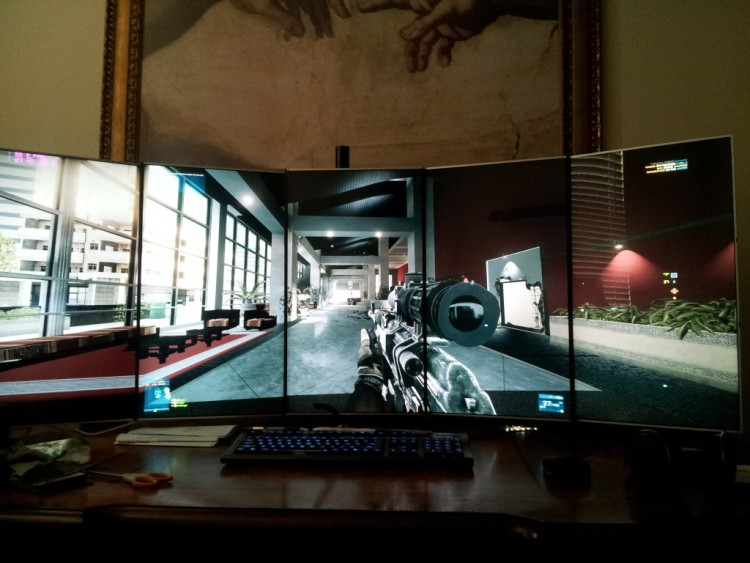 "BattleField 3 on 5 Portrait 23"" Monitors"