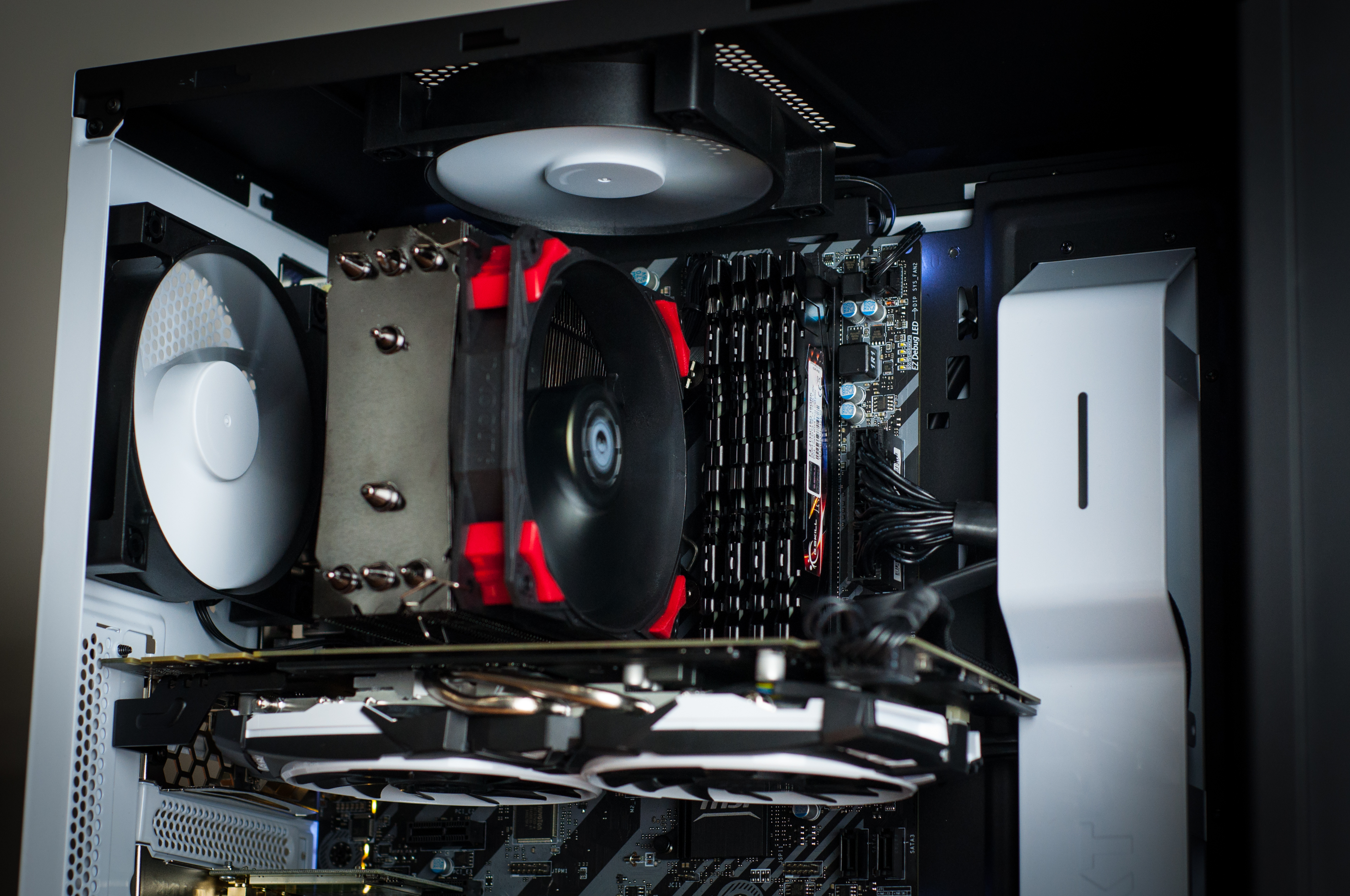 valkyrie custom gaming pc in nzxt source 340 white evatech news